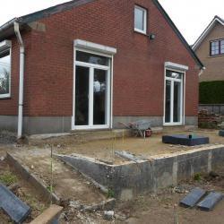 Création terrasse et escalier