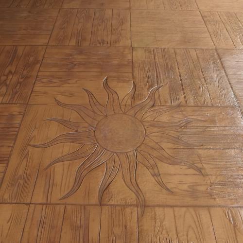 Motif bois avec soleil